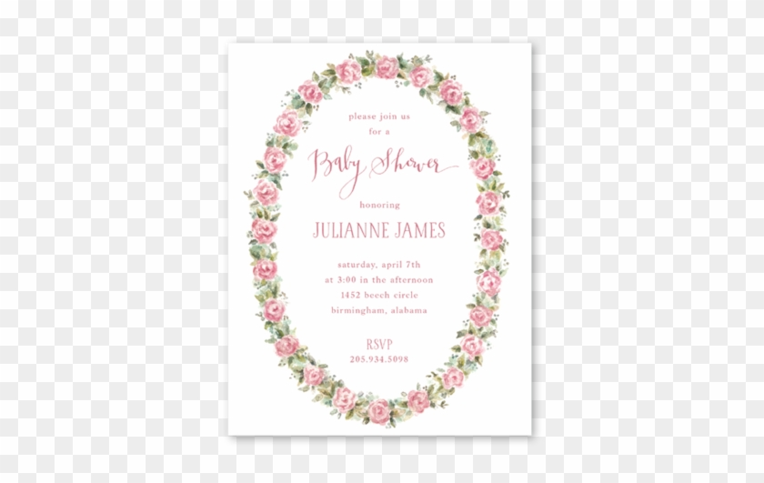 Baby Roses Baby Shower - Christmas Card - Free Transparent PNG ...