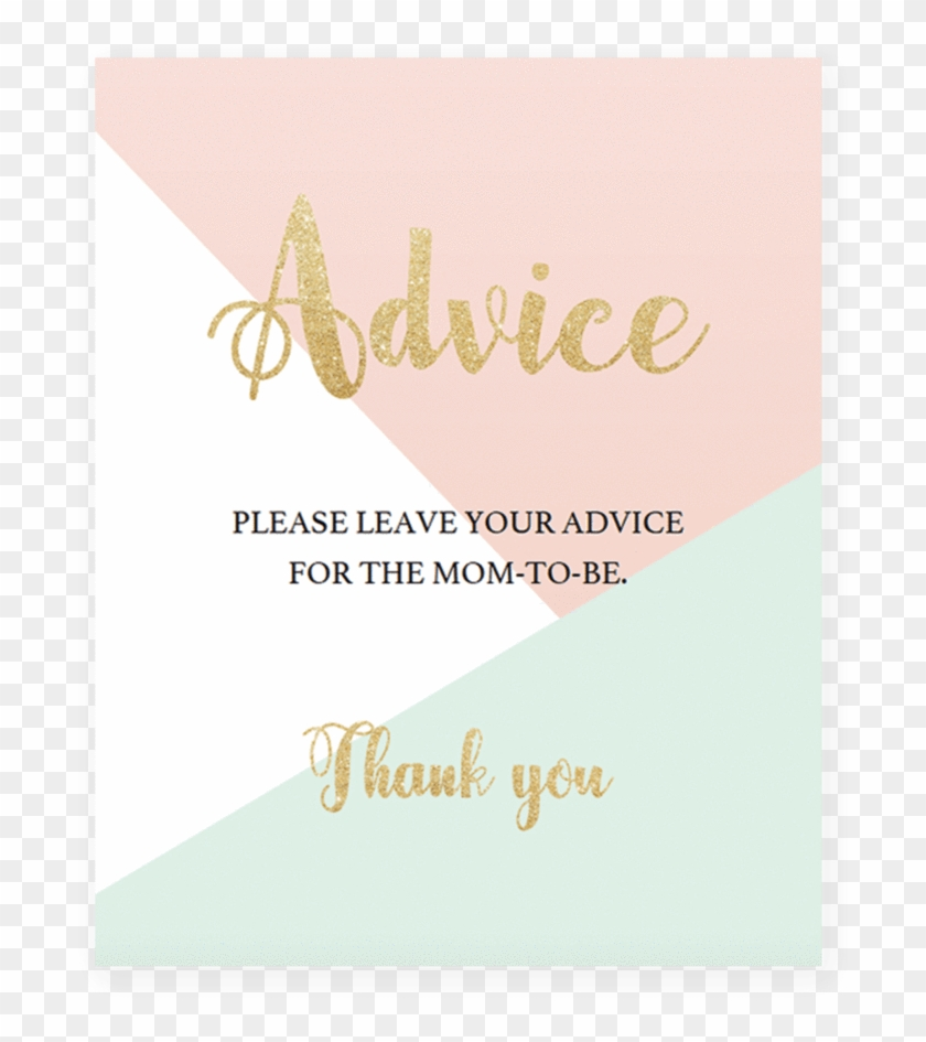 Printable Pastel Baby Shower Advice Sign By Littlesizzle Greeting