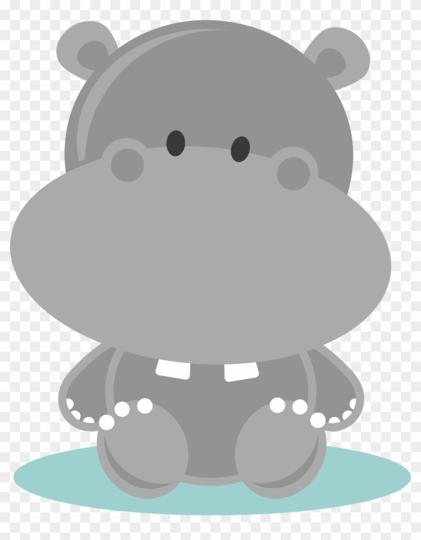 Jungle Baby Shower Clip Art Download Baby Hippo Cartoon Free Transparent Png Clipart Images Download