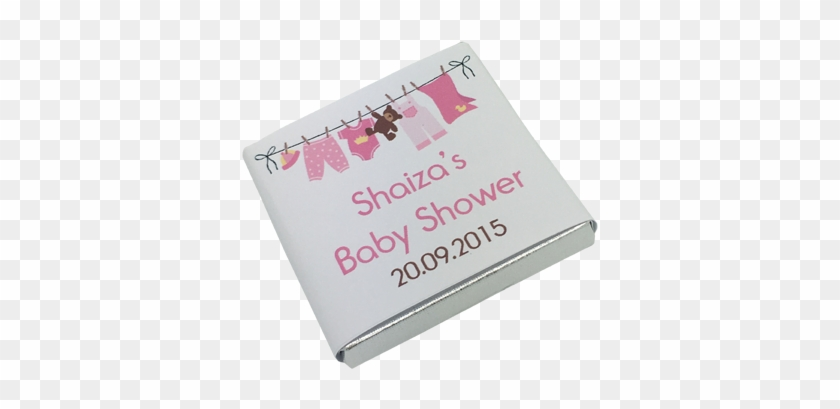 Pink Washing Line Personalised Chocolate Baby Shower - Baby Clothes Clip Art #869612