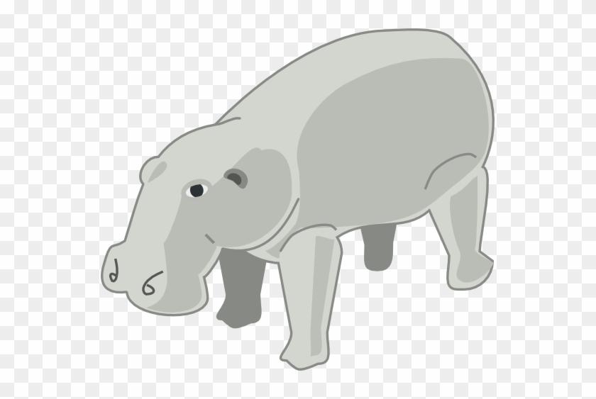 Hippo Clipart Mammal - Imagenes De Animales Grandes Animados #869618