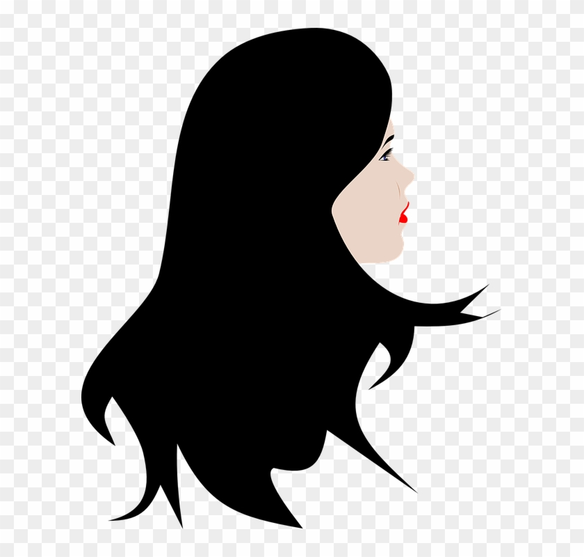 Back - Long Hair Clipart #869725