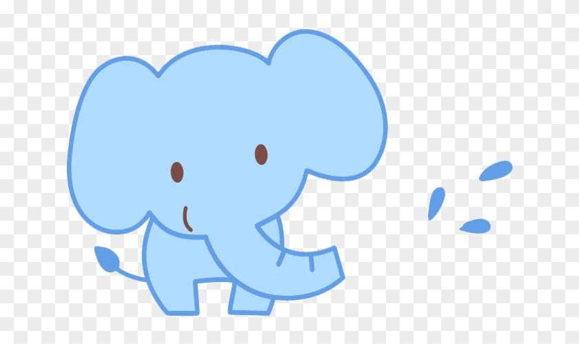 Cartoon Drawing Illustration - Cute Baby Elephant Cartoon #870092