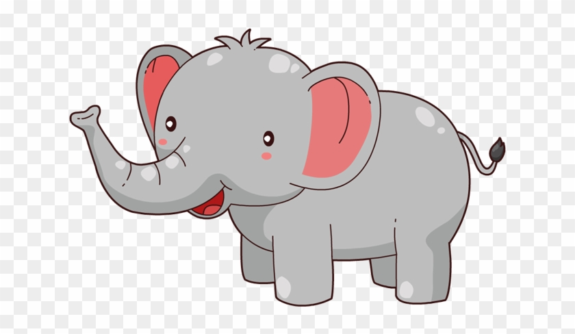 Elephant Svg File - Cute Elephant Cartoon Png #870118