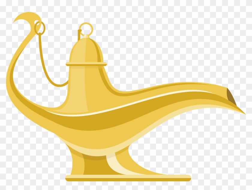 Vector Magic Lamp Aladdin Vector Png Free Transparent