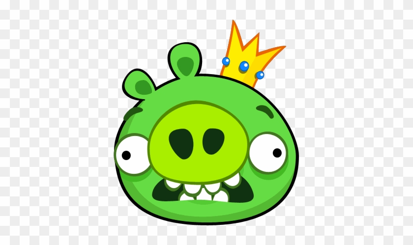Angry Birds King Pig Scared