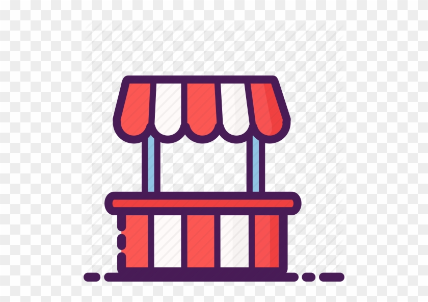 Snack Stand Cliparts - Bazaar Icon - Free Transparent PNG Clipart