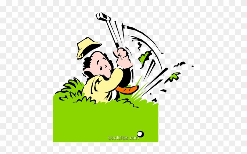 Cartoon Golfer Royalty Free Vector Clip Art Illustration Golf Clip Art Free Transparent Png Clipart Images Download