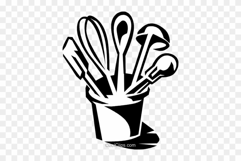 Kitchen Utensils Royalty Free Vector Clip Art Illustration - Kitchen Utensils Clipart Png #870821