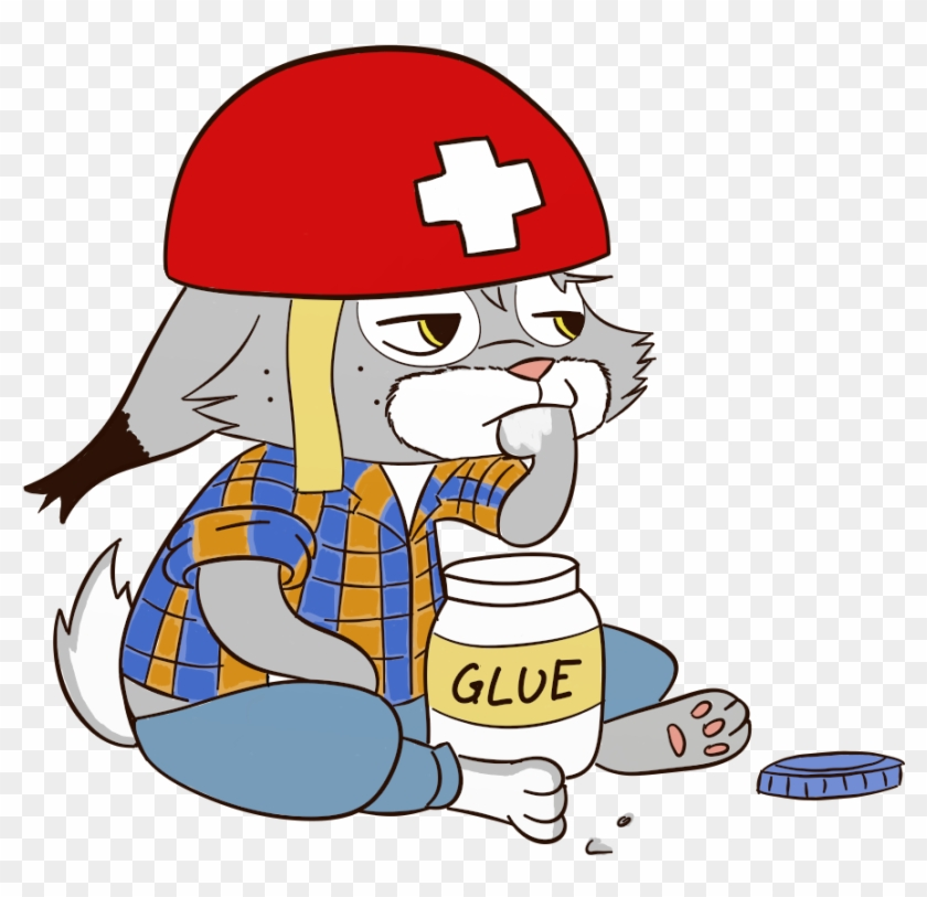 Pascal Eating Glue By Gfcwfzkm Cartoon Character Eating Glue
