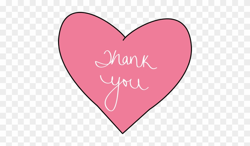 Thank You Clip Art - Thank You With Hearts #871874