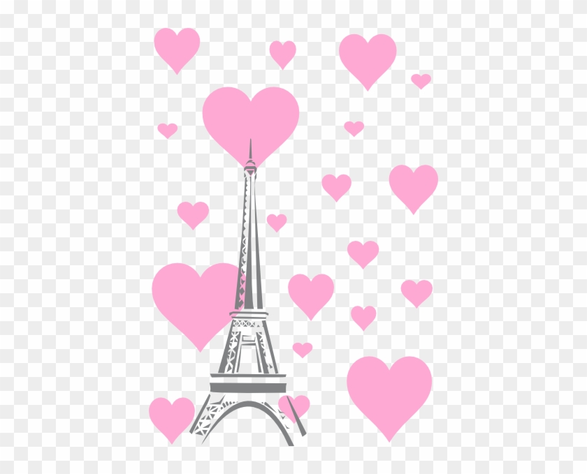 Wallpaper Lucu Pink Hearts Eiffel Tower Hi - Menara Eiffel
