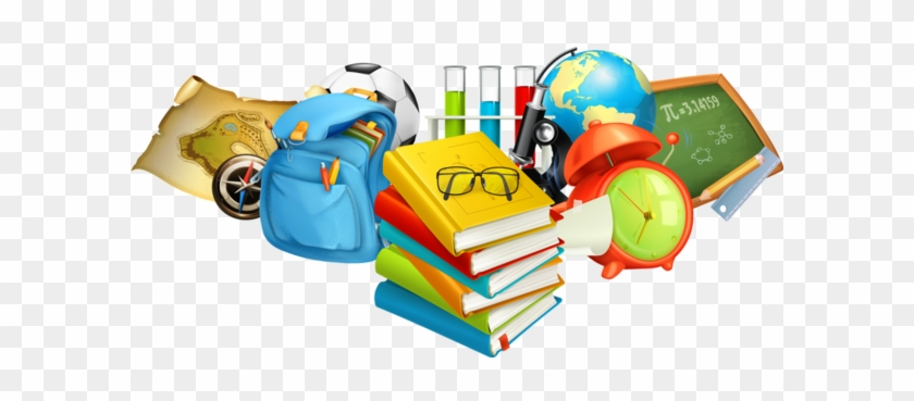 School Books And Bag Png #872232