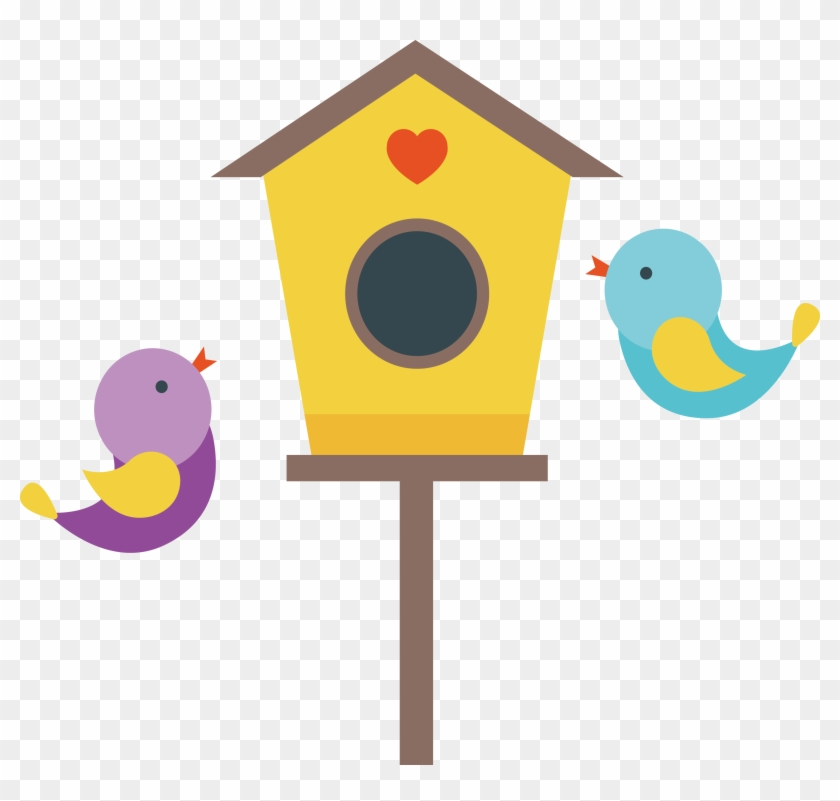 Cartoon Illustration Love Nest Casa De Passarinho Desenho