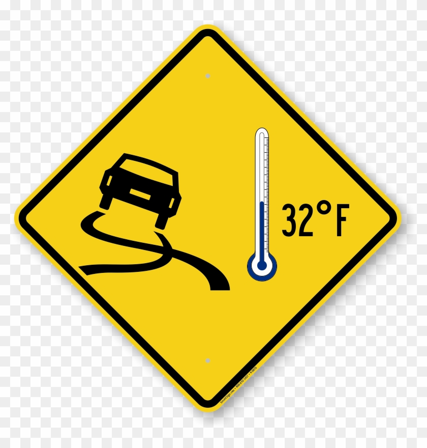 Icy Roads Car 32°f Thermometer Symbol Sign - Coming Soon Animated Icon #872927
