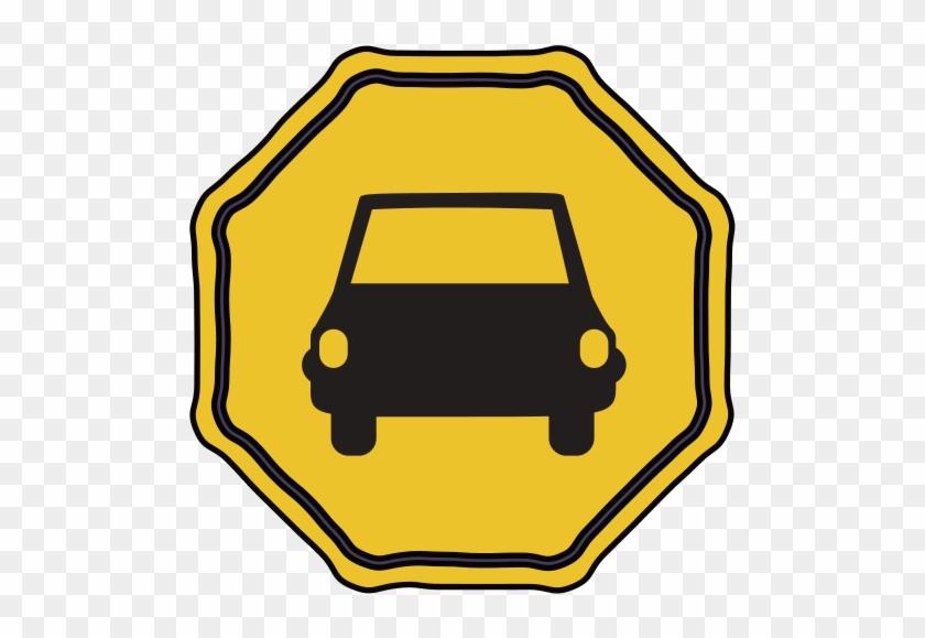 Car Road Sign Design Illustration Free Transparent Png Clipart