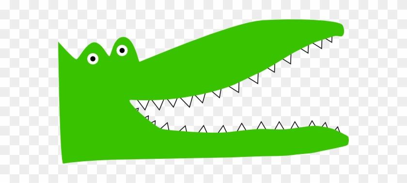 Cartoon Alligator Head Clipart - Alligator Teeth Cartoon #873071