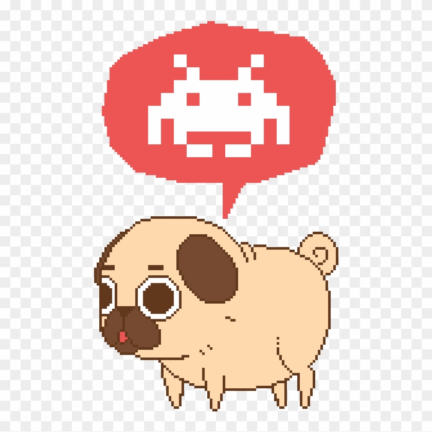 Puglie Was Testing Out The Pixel Life For A Really - Space Invaders Alien Sprites #873992