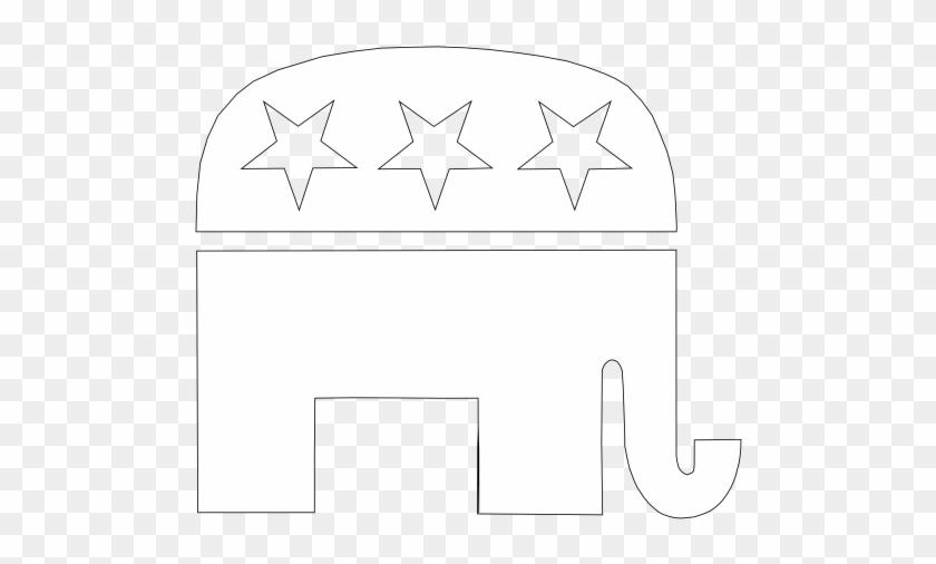 Republican 20clipart - Black And White Republican Elephant #874689
