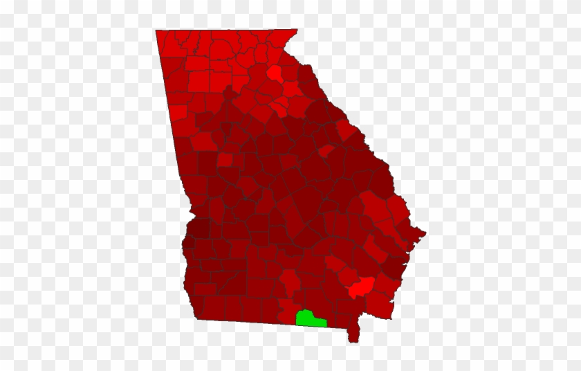 Us Map Counties 2016 Election Georgia 2016 Presidential Election
