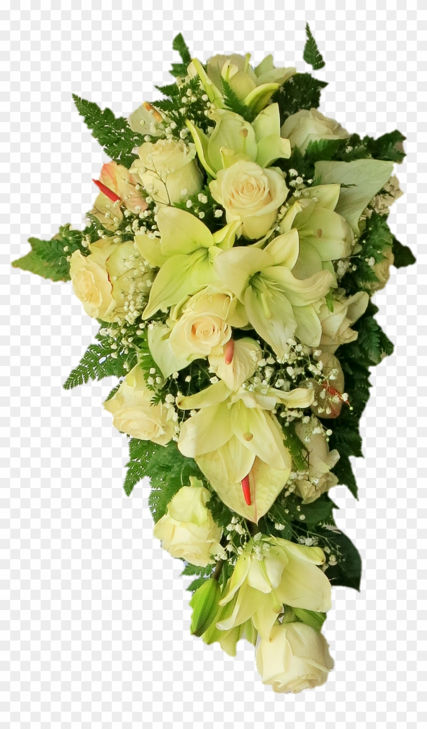 Hanging Bouquet Hanging White Flowers Png Free Transparent Png