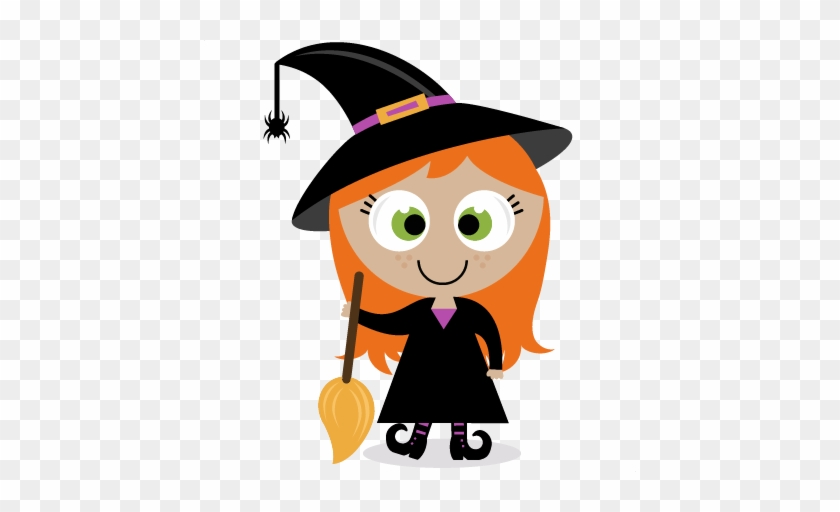 Witch-girl Is Just A Bundle Of Joy She Has A Great - Cute Halloween Witch Clipart #875897