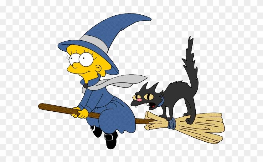 Cute Halloween Cat Clipart - Lisa Simpson Halloween #875908