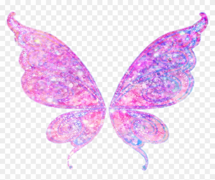 Butterfly Wings Glitter Edit Sticker Pretty Interesting - Fairy Wings Transparent Background #876141