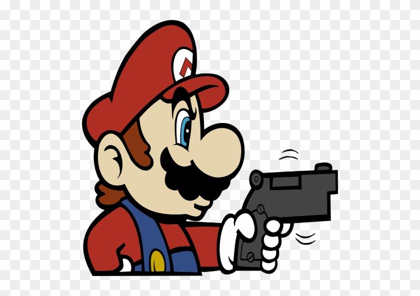 Mario Holding A Gun Mario With A Gun Free Transparent Png