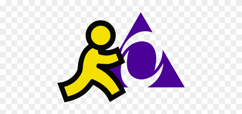 Aol im icon aim instant messenger logo free transparent png.