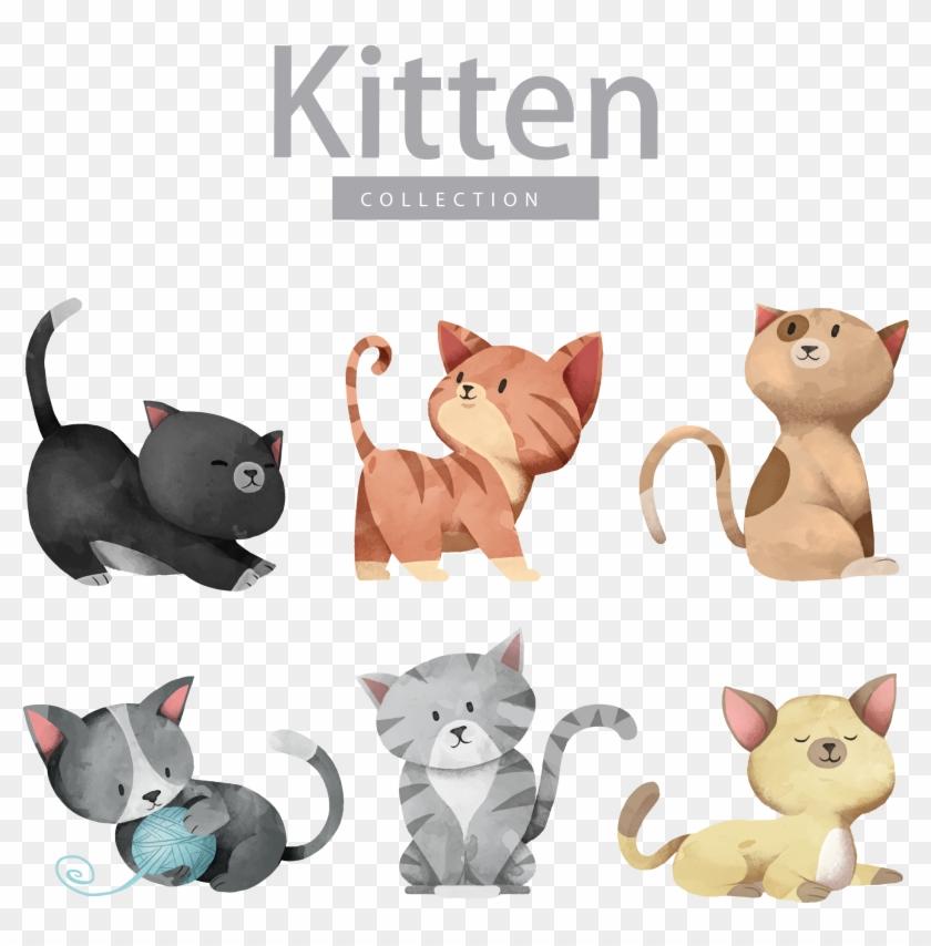 Cat Dog Kitten Illustration - Cute Cat Vector #877838