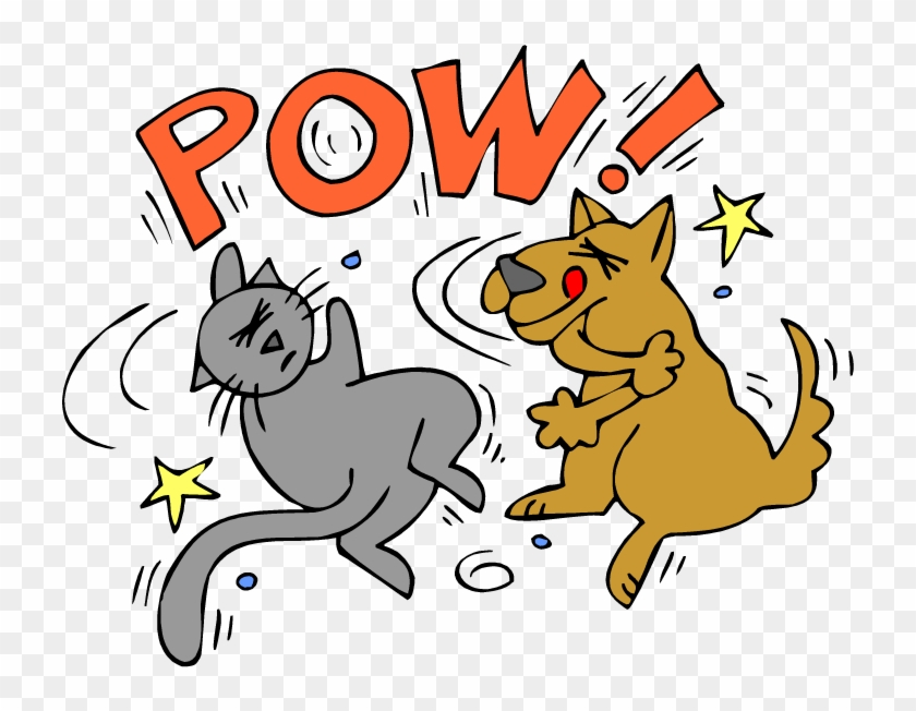 Show Clipart Animals Cartoons A G Dogs Fighting Over Cat And Dog