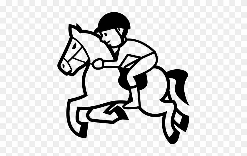 240 240 pixels horse racing clip art black and white free