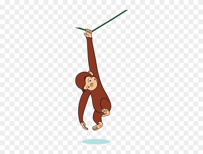 Curious george swinging