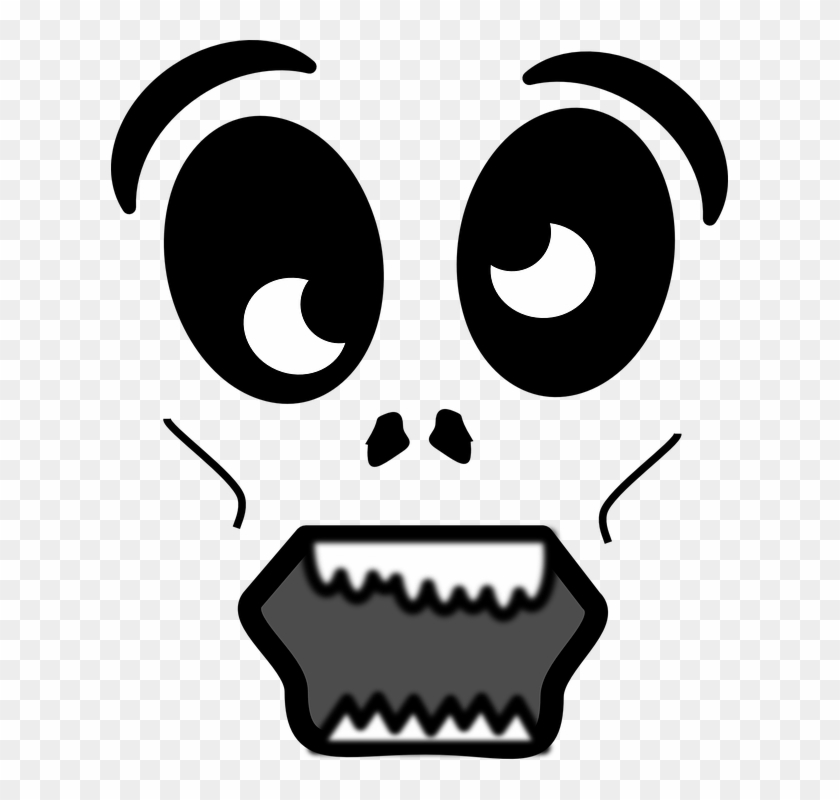 Horror Clipart Shocked Face Cartoon Zombie Face Png Free