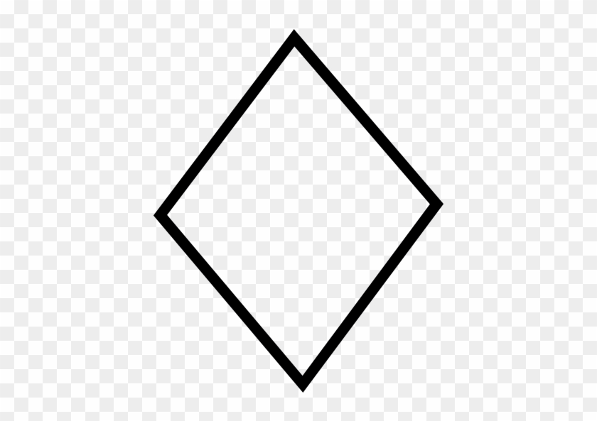 Diamond Shape, Ios 7 Interface Symbol Vector - Diamond Shape #880970