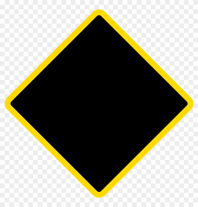 Diamond Warning Sign - Black Diamond Traffic Sign #881014