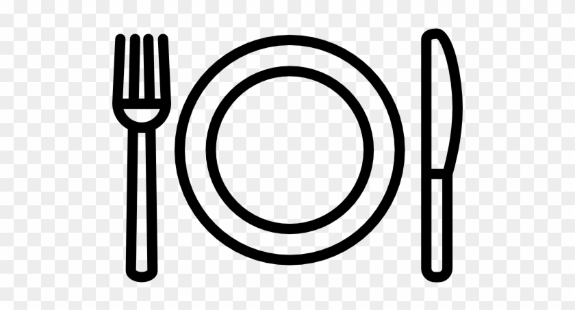 Fork Plate And Knife Free Vector Icon Designed By Freepik - Knife Fork Plate Png #881087