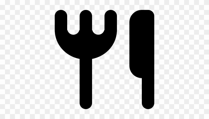 Restaurant Symbol Of Fork And Knife Silhouettes Vector Icon Free