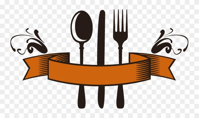 Knife Fork Logo Spoon Restaurant - Spoon And Fork #881164