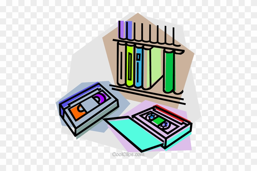Video Tape Library Royalty Free Vector Clip Art Illustration Clip Art Free Transparent Png Clipart Images Download