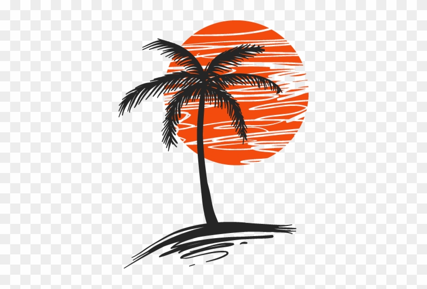 Wall Color - Palm Tree And Sun Tattoo #882581