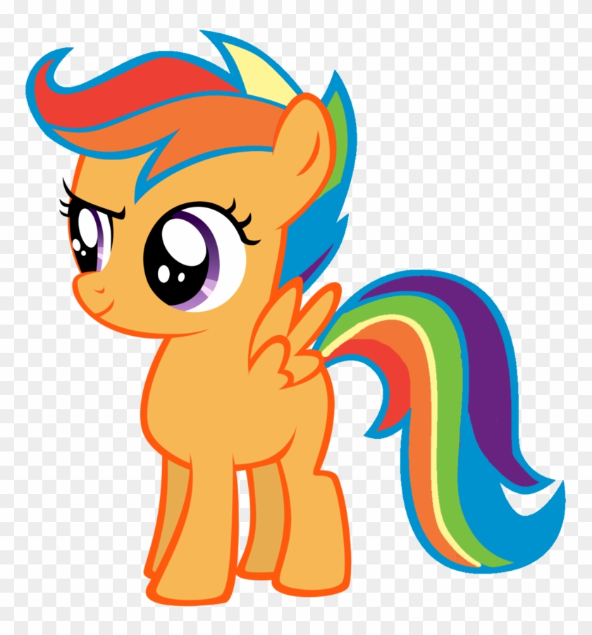 Scootaloo With Rainbow Dash Mane By Cityponie My Little Pony Recolors Free Transparent Png Clipart Images Download Scootaloo can barely fly, so she uses her wings to propel herself on her scooter. scootaloo with rainbow dash mane by
