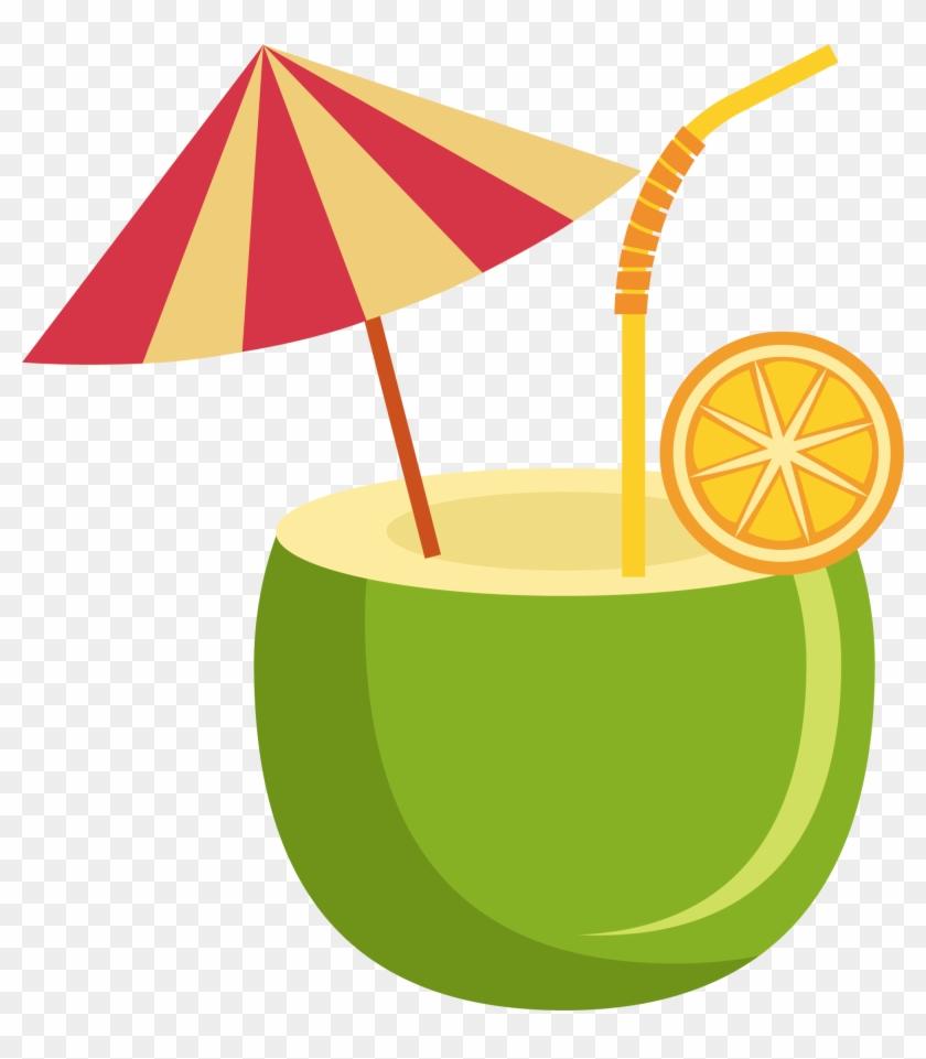 Orange Juice Orange Drink Coconut Milk Coconut Water - Desenho Côco Png #882944