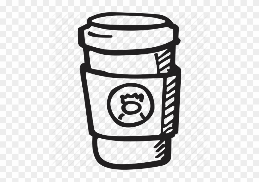 Beverage, Coffee, Cup, Drink, Hot, Starbucks Icon Icon - Starbucks Black And White Cup Png #883539