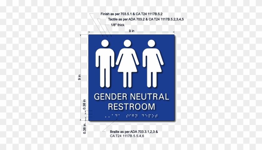 gender inclusive restroom ada sign california gender neutral bathroom signs - Gender Neutral Bathroom Signs
