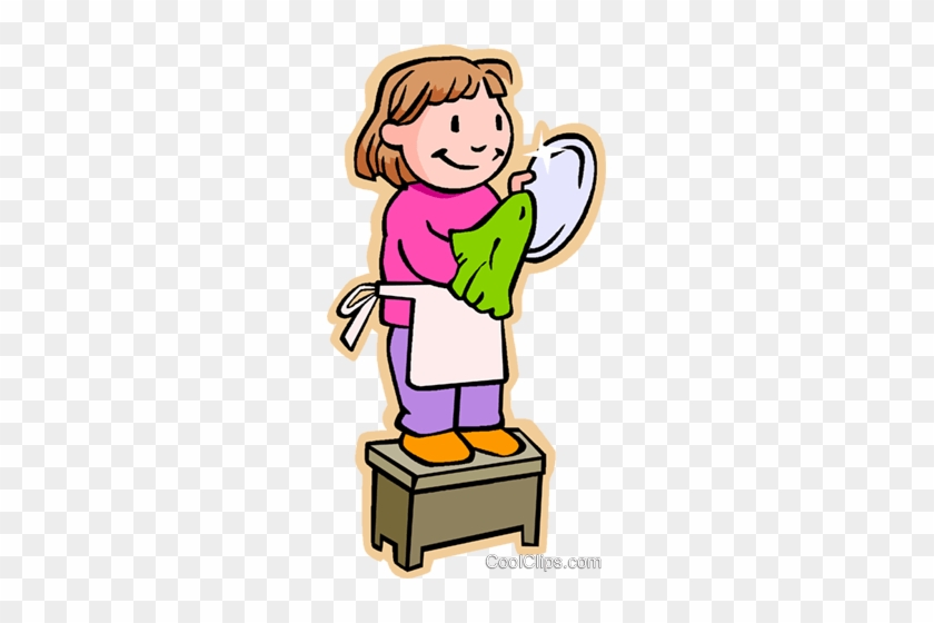Children At Play Dishes Clip Art
