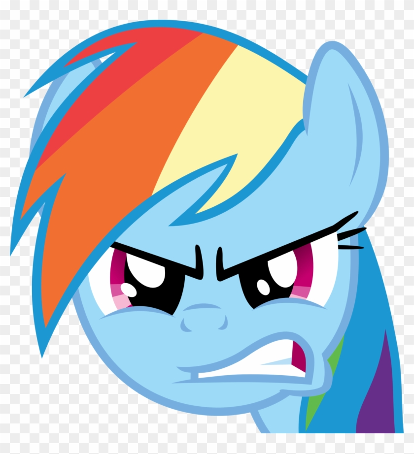 Rainbow Dash Angry Face #884405