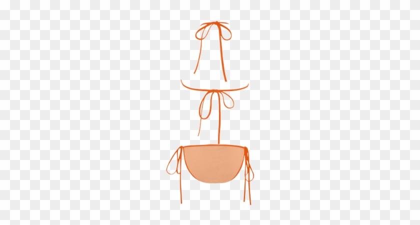 Peach Cobbler Color Accent Custom Bikini Swimsuit Peach - Bikini #885065
