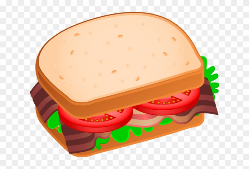Sandwich Clip Art - Bacon Lettuce Tomato Clipart #885492